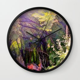 Go Deeper Into The Woods Wall Clock