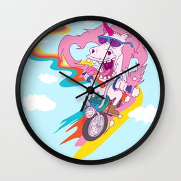 Unicorn Biker Wall Clock