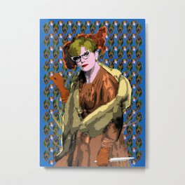 Clue - Mrs Peacock  Metal Print
