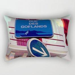 French Street Signs Rectangular Pillow