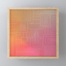 Art Deco sunset Framed Mini Art Print