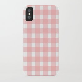 Pink Gingham Design iPhone Case