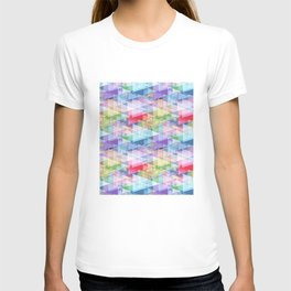 Triangles. Abstraction. T-shirt