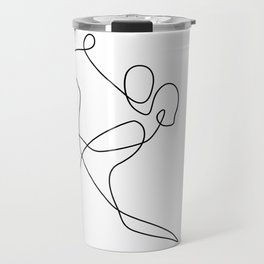 minimal line dance Travel Mug