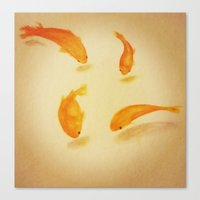 goldfish Canvas Prints featuring Goldfish by Liveart4evr