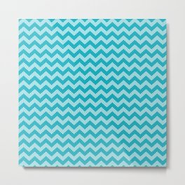 Turquoise Moroccan Moods Chevrons Metal Print