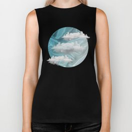 """Blue pastel sweet heaven and clouds"" Biker Tank"