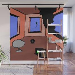 dystopian bedroom Wall Mural