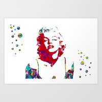 monroe Art Prints featuring MONROE by Bianca Lopomo