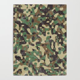 Distressed Army Camo Poster