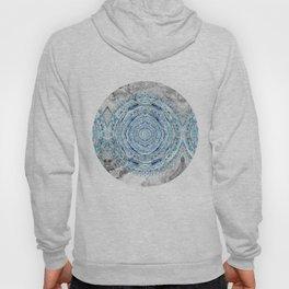 Blue & Gray Mandala Marbling Hoody