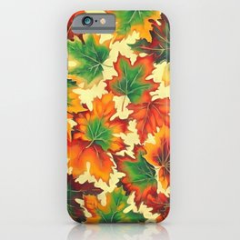 Autumn maple leaves I iPhone Case