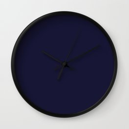 Rich Blue Solid Color Plain Wall Clock