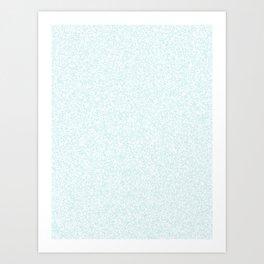 Spacey Melange - White and Light Cyan Art Print