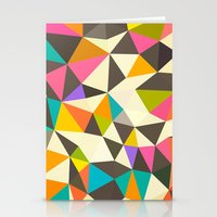 mod Stationery Cards featuring Mod Tris by Beth Thompson