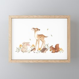 Fawn & Friends Framed Mini Art Print