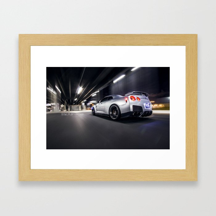 Super silver R35 GTR  Framed Art Print