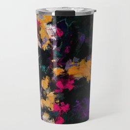 Purple and Yellow Abstract / Surrealist Painting Travel Mug