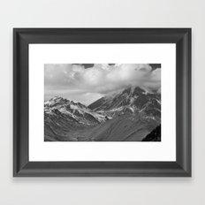 Frozen Peak Framed Art Print