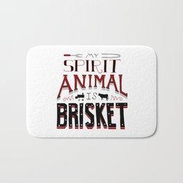 My Spirit Animal is Brisket Bath Mat