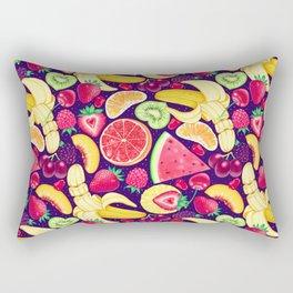 Fruit Cocktail on Blue Rectangular Pillow
