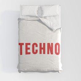 Techno badge, djs gift Comforters