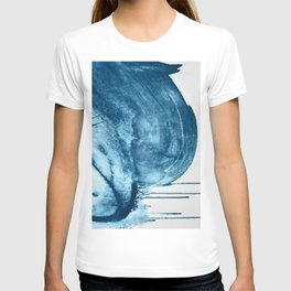 4 am thoughts: a minimal abstract acrylic piece in blue by Alyssa Hamilton Art T-shirt