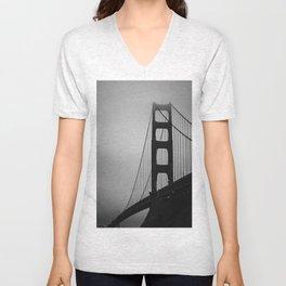 Golden Gate at Night Unisex V-Neck