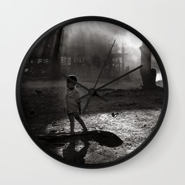 "Little Boy in Central Highland of Vietnam - ""VACANCY"" zine Wall Clock"