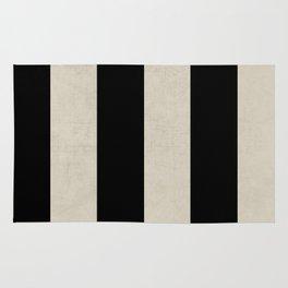 vintage black stripes Rug