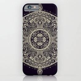 Mandala 1 (Dark) iPhone Case