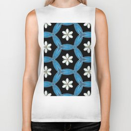 hippie flower pattern Biker Tank