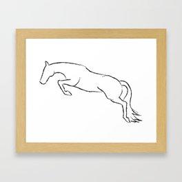 Jumper Outline Framed Art Print