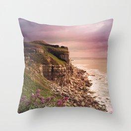 Dorset Coast Throw Pillow