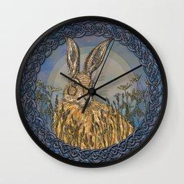 Celtic Hare Wall Clock