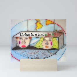 Living in a box Mini Art Print