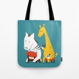 Zebra Tattoo Tote Bag