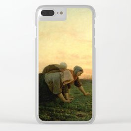 Jules Breton - The Weeders Clear iPhone Case