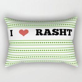 I Love Rasht Rectangular Pillow