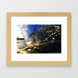 laguna glass Framed Art Print