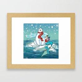 Icy Pals Framed Art Print