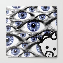 Blue Eyes HD by JC LOGAN 4 Simply Blessed Metal Print