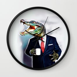 Business Croc Wall Clock