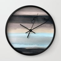 santa monica Wall Clocks featuring Santa Monica by Steven k Schmidt