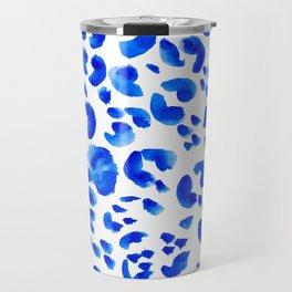 Blue Leopard Pattern Travel Mug