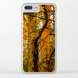 autumn yellow and orange Clear iPhone Case
