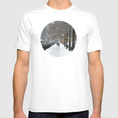 New York in Winter White Mens Fitted Tee MEDIUM