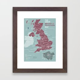 The Great British Television Map Framed Art Print