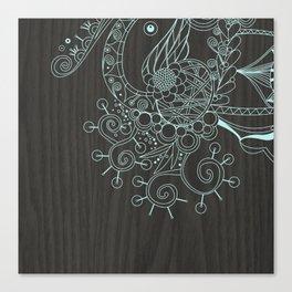 Tangle on dark wood Canvas Print