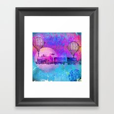 Train in the space Framed Art Print